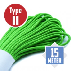 Neon Green Paracord Typ II Ø 3mm (15m)