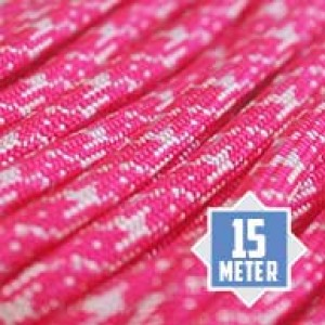 Neon white pink camo Paracord 550 Typ 3 Ø 4mm (15m)