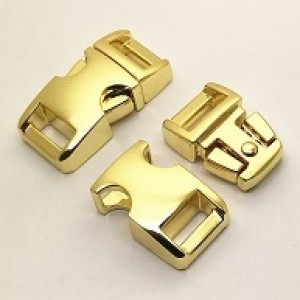 "Schnalle Metall gold 3/8"" (S)"