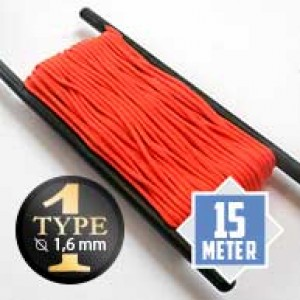 Neon orange Paracord Typ I Ø 2mm (15m)