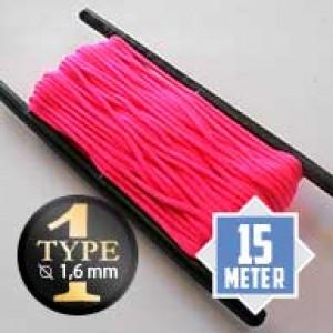 Neon pink Paracord Typ I Ø 2mm (15m)