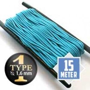 Neon turquoise Paracord Typ I Ø 2mm (15m)
