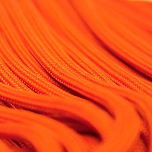 Neon orange Paracord 550 Typ 3 Ø 4mm (15m)